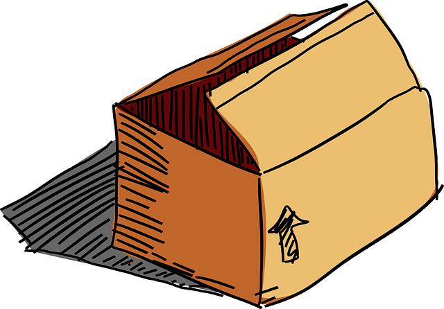 šipka na krabici