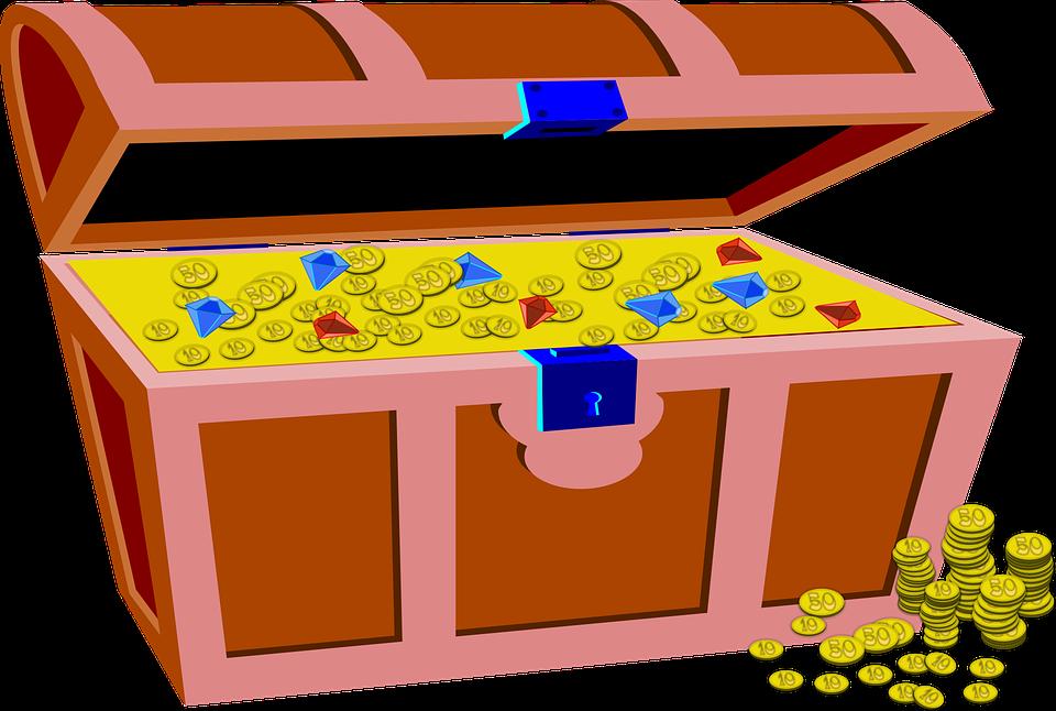 poklad v truhle